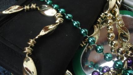 Mardi Gras Beads with Condoms
